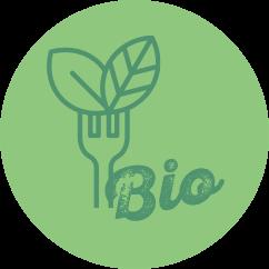picto légumes et fruits bio pour restauration collective