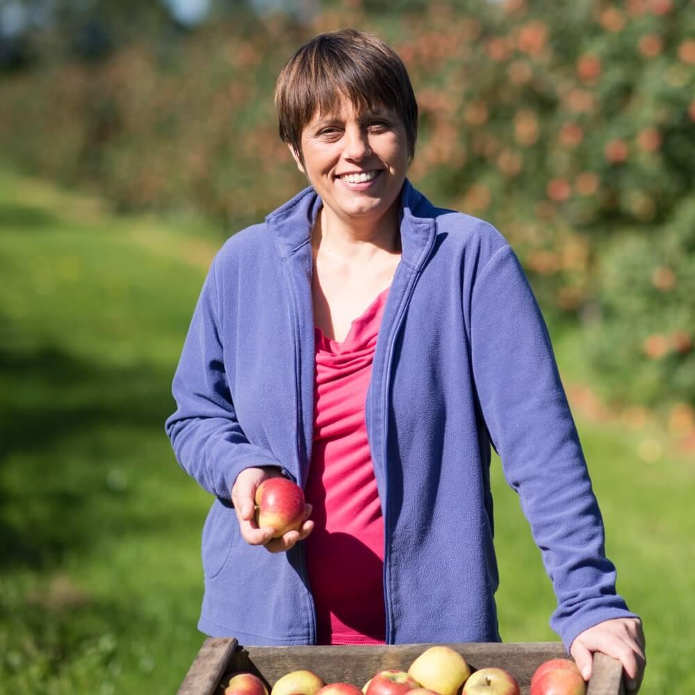 Sandra Landrin, productrice de pommes